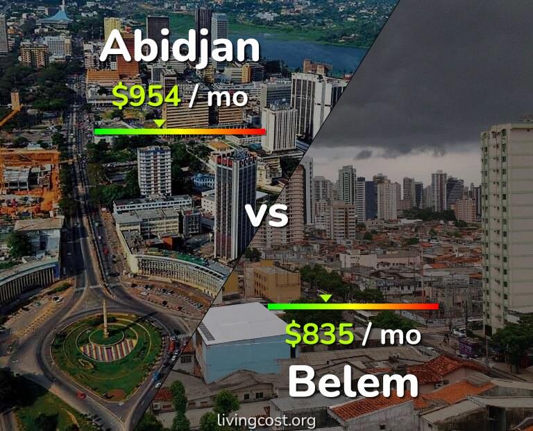Cost of living in Abidjan vs Belem infographic