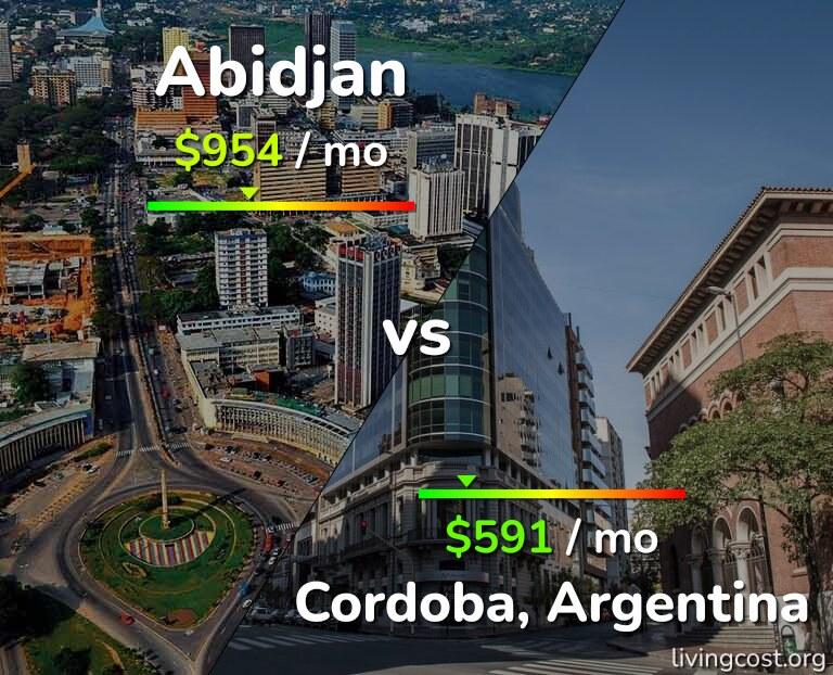 Cost of living in Abidjan vs Cordoba infographic