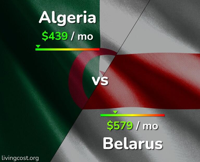 Cost of living in Algeria vs Belarus infographic