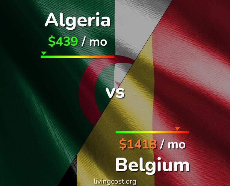 Cost of living in Algeria vs Belgium infographic