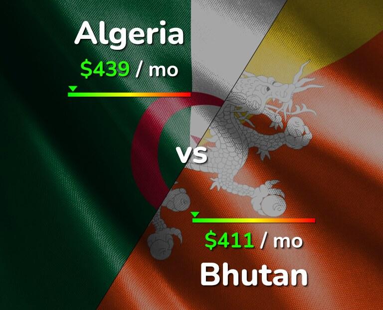 Cost of living in Algeria vs Bhutan infographic