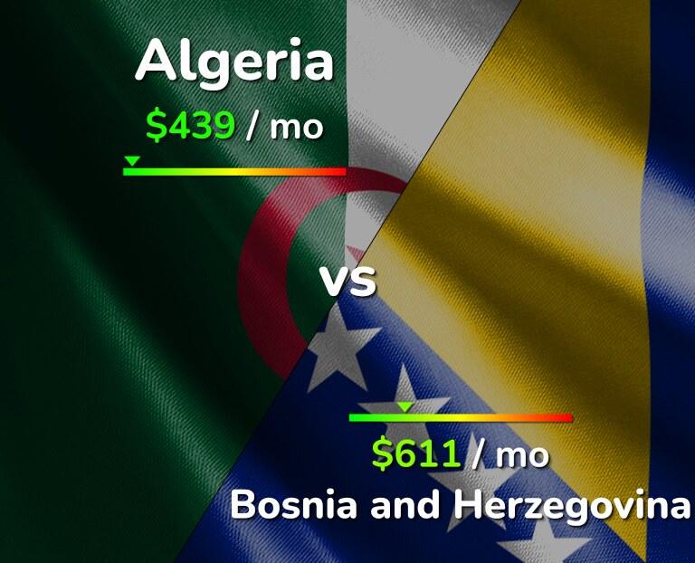 Cost of living in Algeria vs Bosnia and Herzegovina infographic