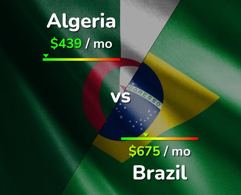 Cost of living in Algeria vs Brazil infographic