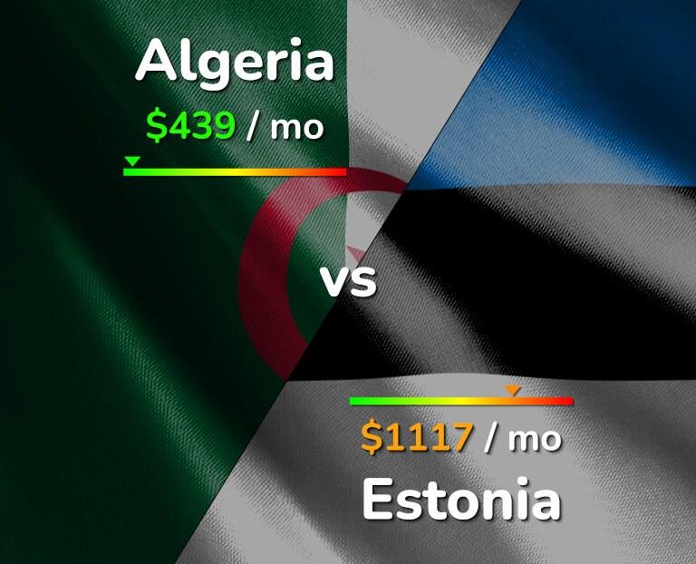 Cost of living in Algeria vs Estonia infographic