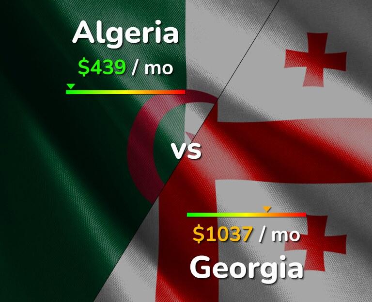 Cost of living in Algeria vs Georgia infographic