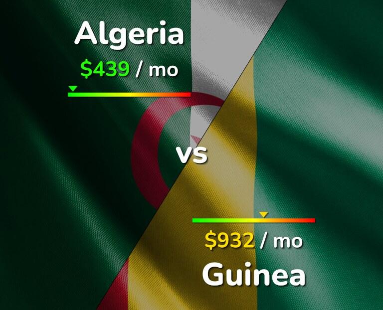 Cost of living in Algeria vs Guinea infographic