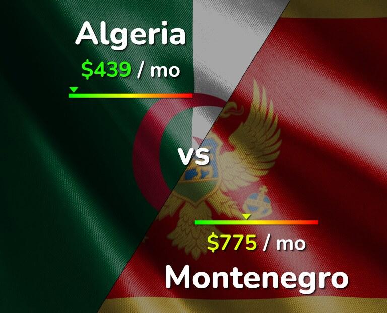 Cost of living in Algeria vs Montenegro infographic