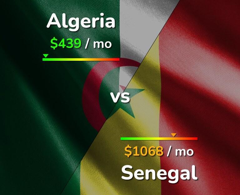 Cost of living in Algeria vs Senegal infographic