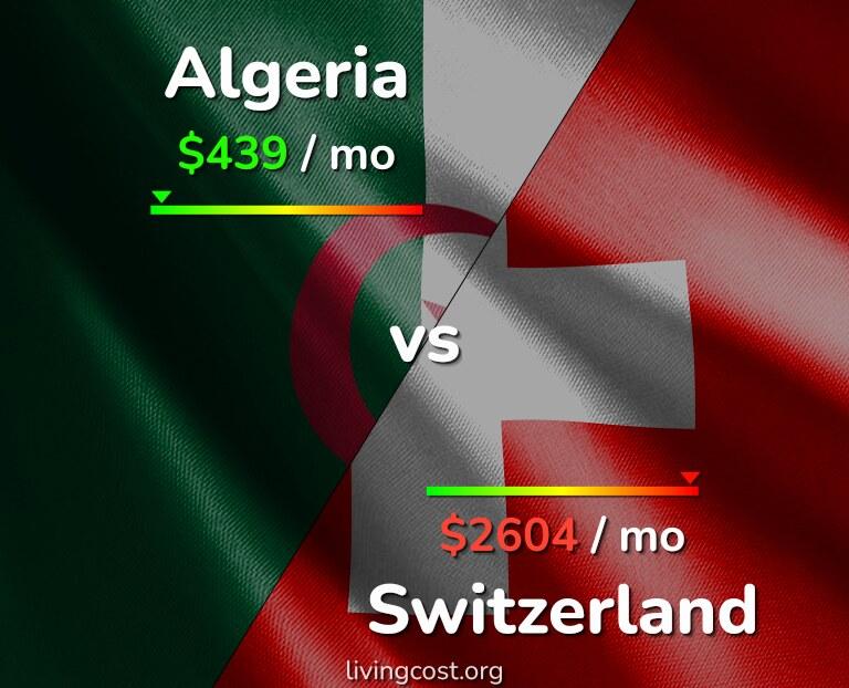 Cost of living in Algeria vs Switzerland infographic