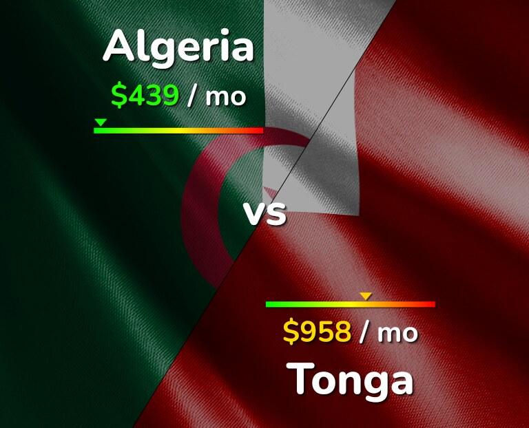 Cost of living in Algeria vs Tonga infographic