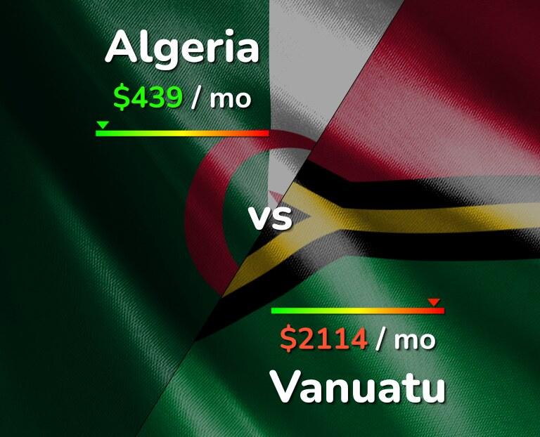 Cost of living in Algeria vs Vanuatu infographic